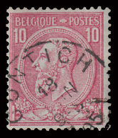 "COB N° 46 - Oblitéré - ""CONTICH"" - 1884-1891 Léopold II"