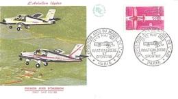 France PARIS Enveloppe Fdc 1er Jour 1962 Exposition Amis Du Musée De L'Air Aviation Légère Et Sportive - 894 - Postmark Collection (Covers)