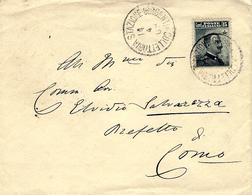 1908- Busta Fr. 15 Cent.  Annullato STAZIONE GIRGENTI . COLLETTERIA  Per Como - 1900-44 Victor Emmanuel III