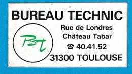 AUTOCOLLANT BUREAU TECHNIC RUE DE LONDRES CHATEAU TABAR 31300 TOULOUSE BT - Aufkleber