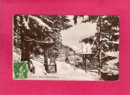 """Suisse, VD Vaud, LEYSIN, Route Des Chamois, Cachet """"Autorité Militaire"""", 1917, (B. Denéréaz) - VD Vaud"""