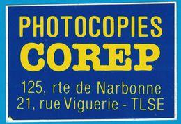 AUTOCOLLANT PHOTOCOPIES COREP 125 ROUTE DE NARBONNE 21 RUE VIGUERIE TOULOUSE - Aufkleber