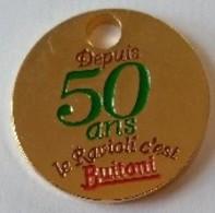 Jeton De Caddie - BUITONI - Depuis 50 Ans Le Ravioli C'est BUITONI - En Métal - Neuf - - Jetons De Caddies
