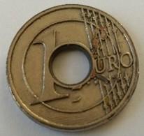 Jeton De Caddie - Monnaie - 1 Euro - En Métal - - Jetons De Caddies