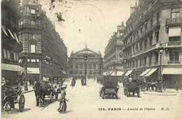 PARIS  Avenue De L' Opera Attelages Voiture  RV - Arrondissement: 01