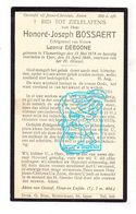 DP Honoré J. Bossaert ° Vlamertinge 1878 † Ieper 1940 X Leonie Deboone - Imágenes Religiosas