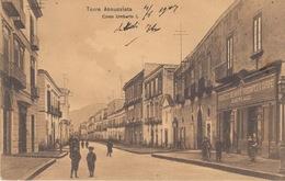 TORRE ANNUNZIATA  (NAPOLI) - CORSO UMBERTO I - VIAGGIATA 1907 - Salerno