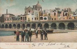 TORRE ANNUNZIATA  (NAPOLI) - VISTO DAL PORTO - VIAGGIATA 1907 - CARABINIERI IN PRIMO PIANO - Salerno