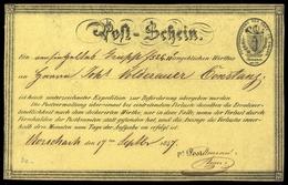 1847, Schweiz, POSTSCHEIN, Brief - Suisse