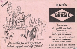 Ancien Buvard Collection Café Costa Brasil 177 R Marcadet Paris 18 - Koffie En Thee
