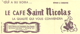 Ancien Buvard Collection Café Saint Nicolas 120 Ae Ledru Rolin Paris 11 - Koffie En Thee