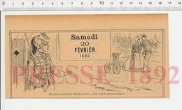 2 Scans 1892 Humour Militaire Argot Marche-à-terre Infanterie Métier Nourrice Landau Uniforme Cavalier Cavalerie 222R7 - Old Paper