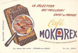Ancien Buvard Collection Café Mokarx 101 Avenue JEAN JAURES EPINAY SUR SEINE - Koffie En Thee
