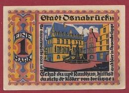 Allemagne 1 Notgeld 1 Mark Stadt Osnabrück Dans L 'état Lot N °5716 - Verzamelingen