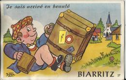"""64. BIARRITZ - Carte Système """"Je Suis Arrivé En Beauté"""" (complet) Illustrateur Bozz - Biarritz"""