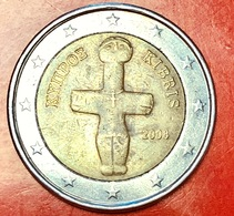 CIPRO - 2008 - Moneta - Idolo Cruciforme Del Periodo Calcolitico (3000 A.C.) - Euro - 2.00 - Chipre