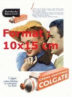 Reproduction D'une Photographie Ancienne D'une Affiche Publicitaire Pour La Crème De Dentifrice Colgate En 1948 - Reproductions