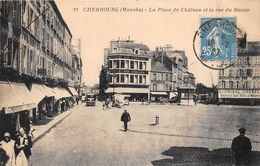 """¤¤  -  CHERBOURG   -   La Place Du Chateau Et La Rue Du Bassin  -  """" Aux Gobelins """"    -   ¤¤ - Cherbourg"""