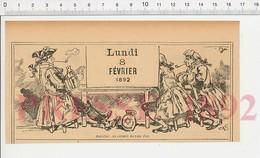 2 Scans 1892 Humour Cabaret Du Lion D'Or Joueurs Jeu De Cartes Pichet étoile De David Landremolle Pot-au-feu 222R7 - Vieux Papiers