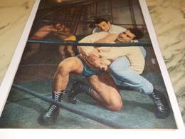ANCIENNE PHOTO LA LUTTE ET LINO VENTURA 1959 - Wrestling