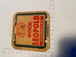 Avant Guerre Brasserie Leopold Bruxelles - Sous-bocks