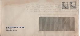 SUEDE   LETTRE   F DEUTGEN & Co AB  BOX 7107  STOCKHOLM - Suède