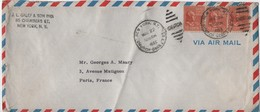 ETATS-UNIS     LETTRE  JL GALEF & SON INOI  85 CHAMBERS ST  NEW YORKI N Y   CACHET  1955 - Etats-Unis