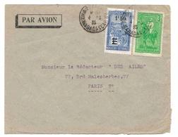 Madagascar Lettre Avion Tananarive 4 3 35 Airmail Cover - Madagaskar (1889-1960)