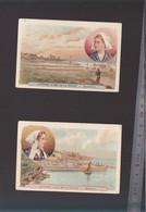 Chromo Fin XIXè / Lot De 2 / Morbihan, Quiberon, Belle Ile  - Littoral Et Iles De L France - Old Paper