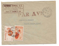 Madagascar Lettre Avion Tananarive 11 9 46 Airmail Cover - Madagaskar (1889-1960)