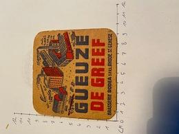 Brasserie GUEUZE De Greef Sint Genesius Rhode - Sous-bocks