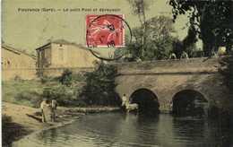 Fleurance (Gers) Le Petit Pont Et Abreuvoir  Chevaux Colorisée - Fleurance
