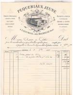 Factures   1883 PEQUERIAUX A LOUVROIL PRES MAUBEUGE POUR MR AMISSE A CHOLET  Fac11 - Factures & Documents Commerciaux