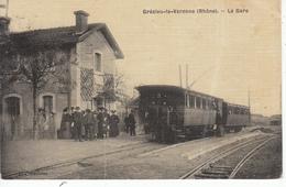 69 Grézieu La Varenne La Gare Carte Toilée,dans L'État (pliée) - Frankreich