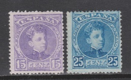 1901 ALFONSO XIII CADETE 15 + 25 CTS NUEVO*. 26 €. VER - Nuevos