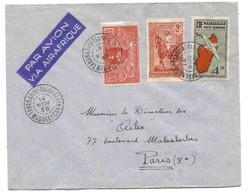 Madagascar Lettre Avion Tananarive Tsaralalana 14 11 1938 Airmail Cover - Madagaskar (1889-1960)