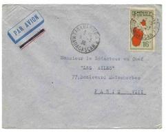 Madagascar Lettre Avion Tananarive 5 3 1936 Airmail Cover - Madagaskar (1889-1960)