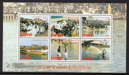 Ghana Bf 438 Festival Edina Bakatue, Pêche , Course De Bateaux , Culte Vaudou Des Morts - Religions