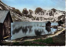 04 Le Lac D'Allos N°3 La Route Des Grandes Alpes VOIR DOS En 1975 Flamme - France