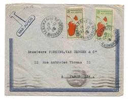Madagascar Lettre Avion Tananarive 27 11 1935 Airmail Cover - Madagaskar (1889-1960)
