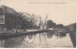 33 HURE Le Moulin Et L'Ecluse De L'Auriole, Gabare - Frankreich