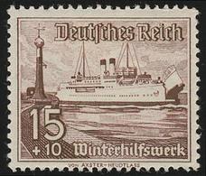 657 Winterhilfswerk Schiffe 15+10 Pf  ** - Ohne Zuordnung