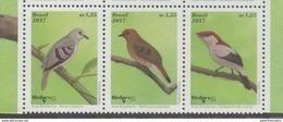 BRAZIL, 2017, MNH, BIRDS, BIRDPEX,3v - Otros