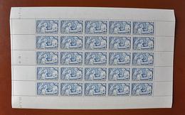 AU PROFIT DU SECOURS NATIONAL 2F50 + 7F50 BLEU NEUF * N° 498 YVERT ET TELLIER 1941 - Full Sheets