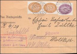 Dienstmarken 114+121 Strohhutmuster Orts-Brief Amtsgericht SCHWERTE 7.11.1931 - Dienstpost