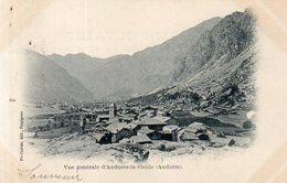 Andorre,Cpa Vue Générale D'Andorre La Vieille - Andorra