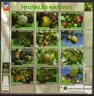 DOMINICAN REPUBLIC, 2017, MNH,FRUITS, SHEETLET - Fruits