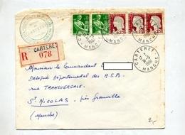 Lettre Recommandee Carteret Sur Decaris Moisson - Marcophilie (Lettres)