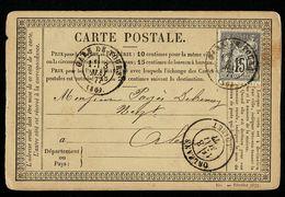 Carte Postale Précurseur Modèle 354 Février 1877 15c Gare De Tours (36) 3 MAI 1977 Pour ORLEANS Loiret 3 MAI 1977 2 Scan - 1877-1920: Période Semi Moderne