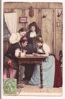 Le Jeu De Dames - Famille En Costume Régional - 1906 - - Suisse